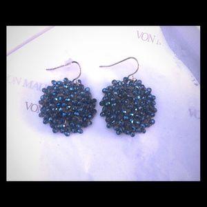 Kenneth Cole blue head earrings